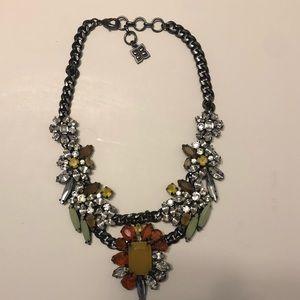 BCBG multi-colored floral necklace